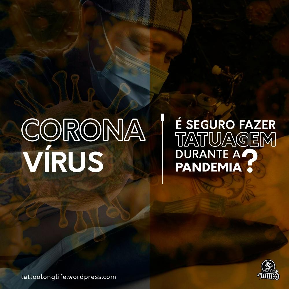 Corona virus - segurança tatuagem